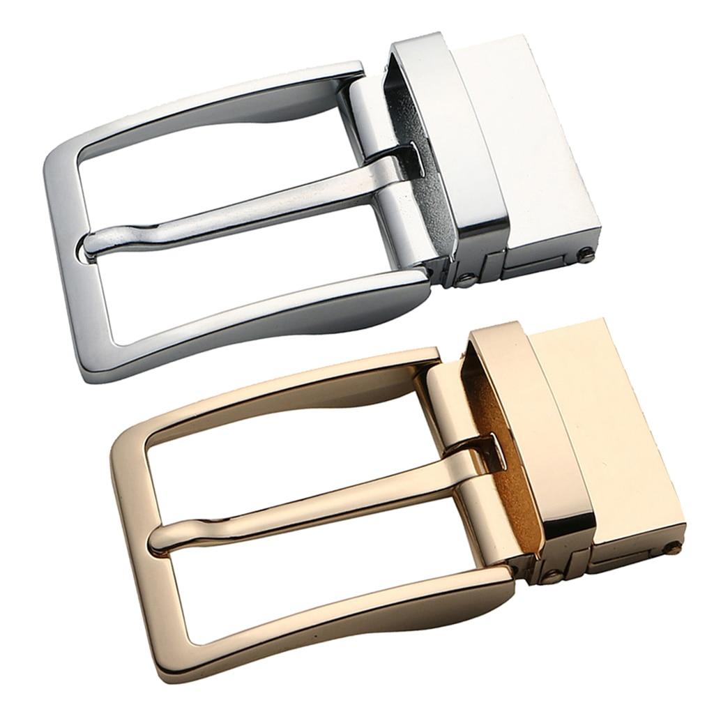 Mens Vintage Reversible Belt Buckle Single Prong Rectangular Buckle Pack Of 2