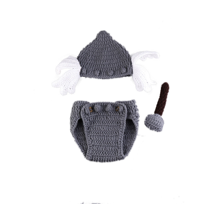Newborn Baby Infant Photography Props Baby Hat Newborn Outfit Halloween Costume Baby Photo Accessories in Hats Caps from Mother Kids