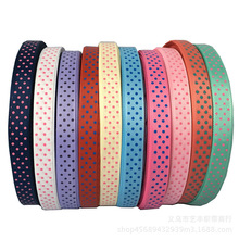 5yards/lot 5/8'' 15mm Polka Dots Printed Grosgrain Ribbon Hair Bow Gift Wrapping Party Wedding Decoration DIY Sewing Fabric 50 yards gradient rainbow grosgrain ribbon gift box flowers perfume red wine decoration apparel sewing diy bow ribbon