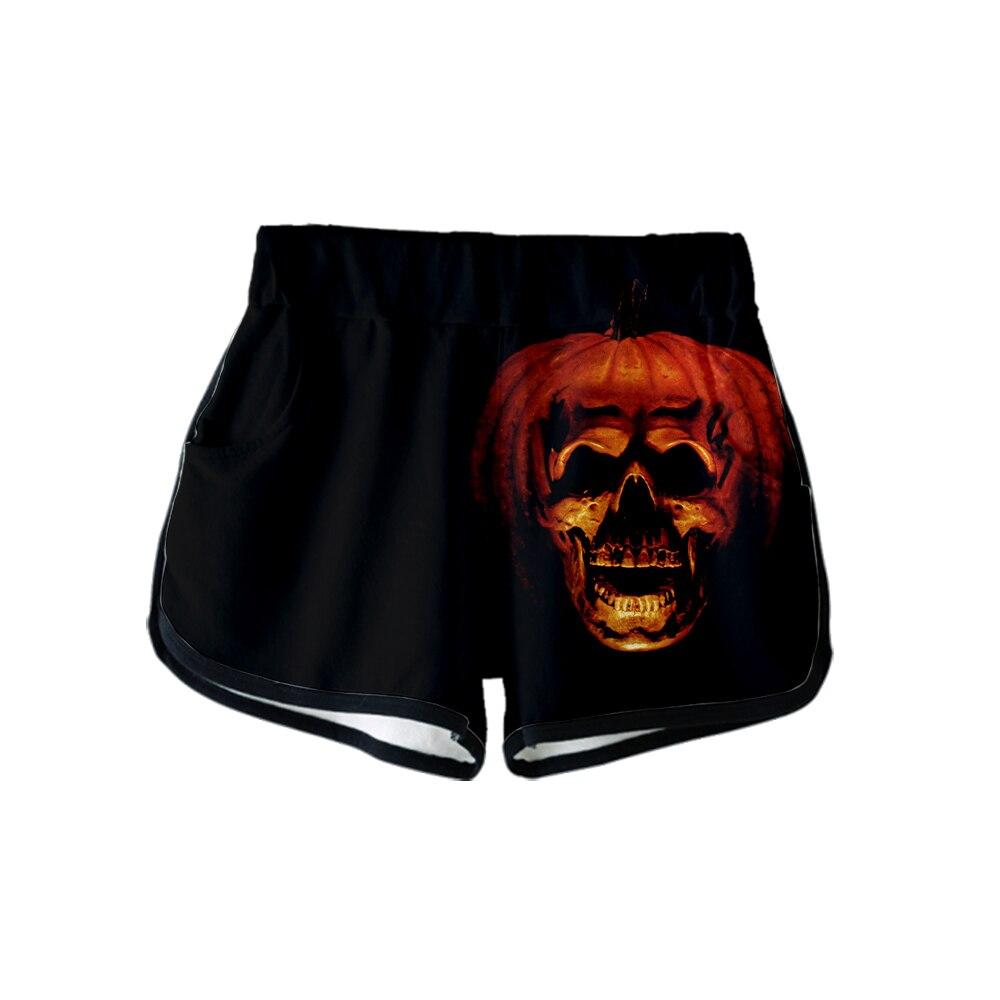HALLOWEEN Horror Movie Print Sport Shorts Sexy Women Fashion Popular Casual Harajuku Shorts Skinny Hot Sale