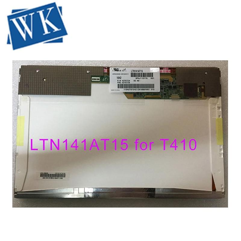 """14.1"""" LCD LED Screen LTN141AT15 LP141WX5 TLP3 N141I6-L03 B141EW05 V.4 For Lenovo Thinkpad E46L E46A T410 Display 1280*800"""