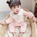 Yg Брендовая детская одежда 2021 весенний кружевной комбинезон с круглым вырезом и длинным рукавом новый детский комбинезон открытые брюки дл...