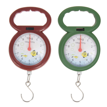 10kg Weighing Portable Numeral Pointer Spring Balance Hanging Scale with Random Color image