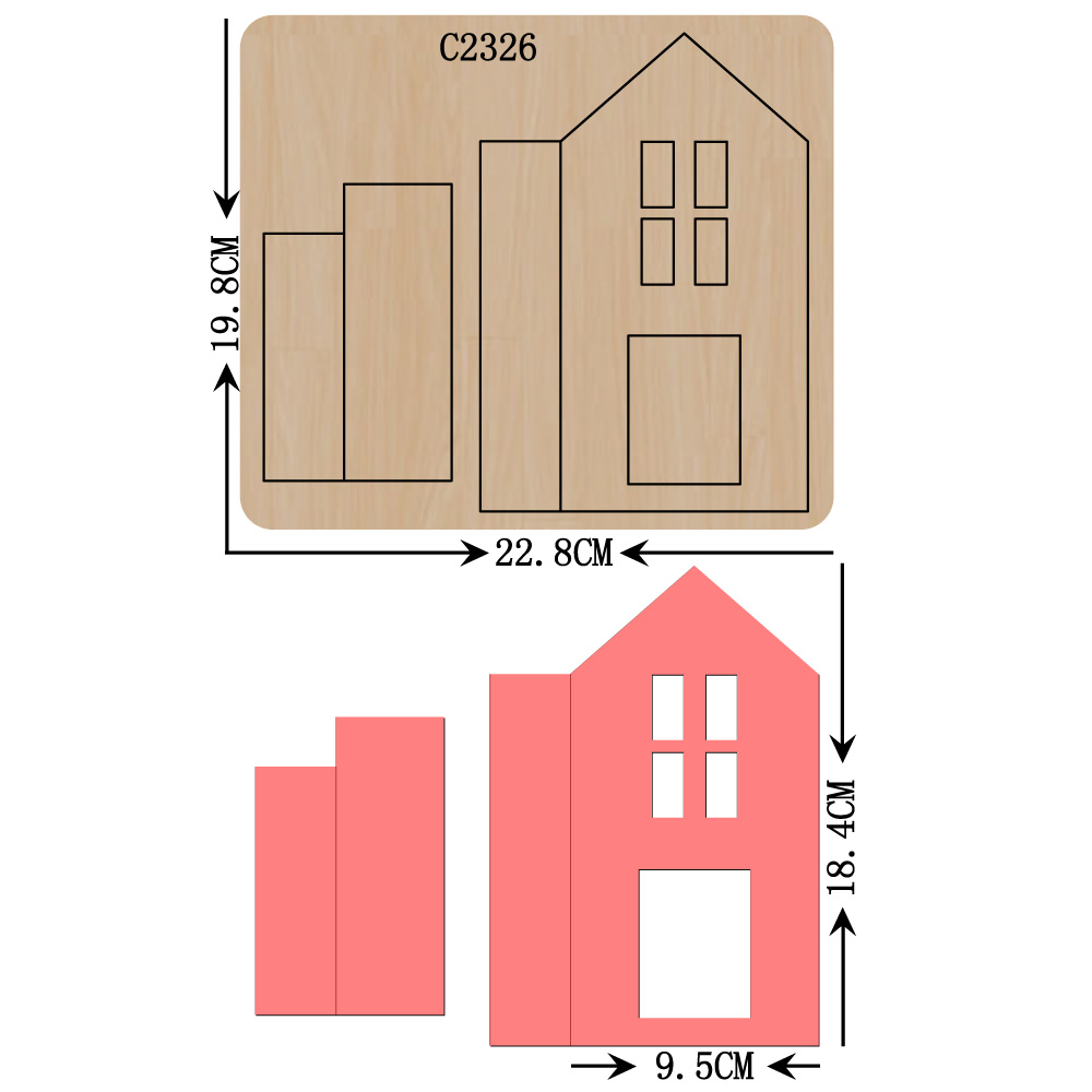 New  House Wooden Die Scrapbooking C2326 Cutting Dies Multi-size