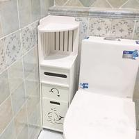 Bathroom Cabinet Floor standing Storage Shelf Rack Toilet Home Furniture Cabinet PVC Plastic Board Sundries Storage Racks