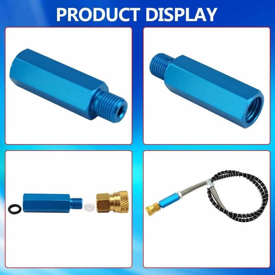 Paintball PCP bomba de mano filtro de aire pequeño azul de alta presión separador de agua y aceite filtrado 30mpa 4500psi M10x1 hilo manguera de 50cm