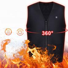 Dropship USB Heated Hunting Vest Heating Winter Clothes Men Thermal Outdoor Sleeveless Jacket Vest for Hiking Climbing Fishing winter usb heater hunting vest heated jacket men thermal sleeveless heating clothing for outdoor hiking climbing fishing