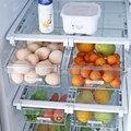 Baffect Пластиковый 2 шт стеллаж для хранения холодильника  небольшая емкость  полки для холодильника  органайзер для кухни  контейнер для хран...