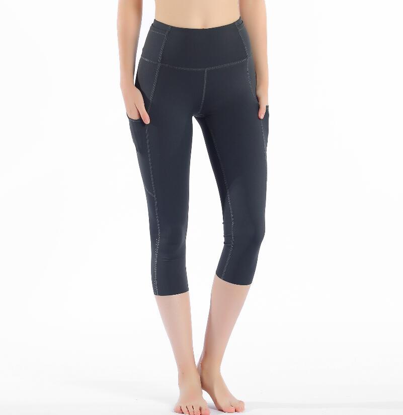 2020 Sports Capris Gym Leggings Super Quality Stretch Fabric camo black wine red capris leggings 4