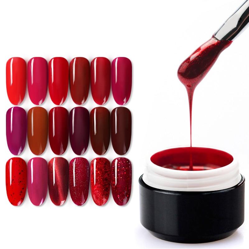 China Red Series Nail Gel Varnish Venalisa Factory 5ml Painting Gel Drawing Varnish Fast Dry Soak Off UV LED Nail Lacquer
