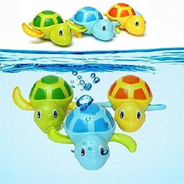 Bathroom Large Winding Cool Swim Baby Turtle Bathing Spring Winding Swimming Turtle Baby Swimming Pool Toys 2