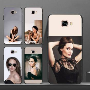 Angelina Jolie Phone Case Galaxy S8 S9 S10e PLUS J6 2018 J600 Cover For Samsung Case Samsung S10plus Sell Phone Accessories image