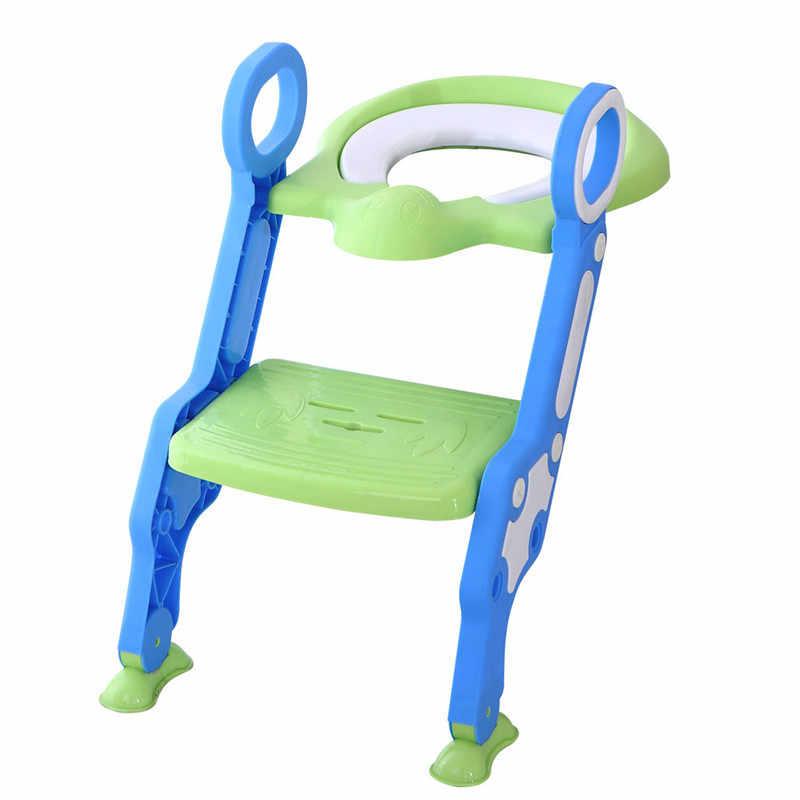 Asiento de entrenamiento para bebés, asiento de entrenador, asiento de inodoro, asiento de inodoro, macetas, escalera plegable, silla de entrenamiento ajustable para bebés