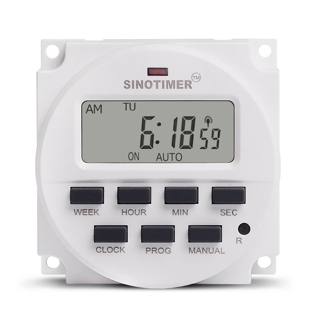SINOTIMER 12V Weekly 7 Days Programmable Digital Time Switch Rela Timer Control for Electric Appliance 8 ON/OFF Setting Switches    - AliExpress