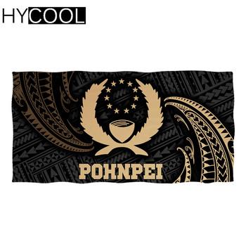 Nowy Trend ręcznik plażowy ręcznik sportowy na zewnątrz Pohnpei polinezyjski druk plemienny szybkoschnący ręcznik kąpielowy ręcznik plażowy tanie i dobre opinie CN (pochodzenie) Quick-dry PRINTED Poliester bawełna Sports Beach Swim Travel Camping Soft Towels Summer Beach Face Hair Towels