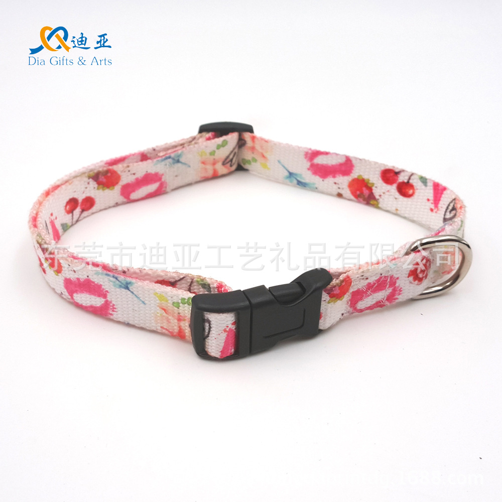 E-Commerce 11-2.0 Cm Thermal Transfer Lips Fruit-Polyester Cotton Skin-Friendly Pet Collar Dog Collar