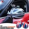 Union Jcak lusterko wsteczne Shell Cover dla Mini Cooper R50 R52 R53 2002-2006 lusterko wsteczne naklejka na pokrywę Case akcesoria samochodowe