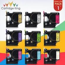 Label-Tape 420P Dymo D1 Pnp-280-Printer Fluorescent Black 210D Green on Compatible