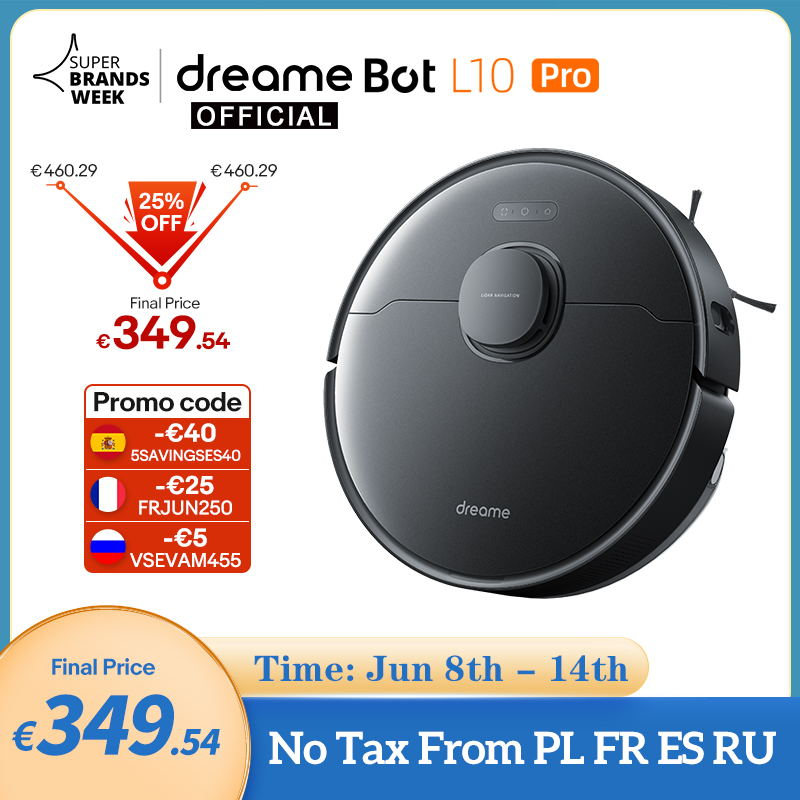 [World Premiere In Stock] Dreame Bot L10 Pro Robot Vacuum Cleaner Superb LiDAR Navigation, 4000Pa Suction ,150mins Auto Charge|Vacuum Cleaners| - AliExpress