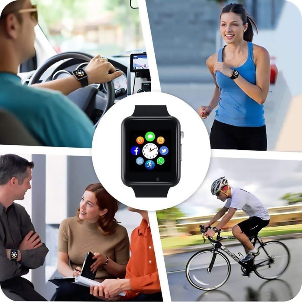 2-A1 Смарт-часы водонепроницаемый Bluetooth Wrist Часы Спорт шагомер с SIM TF карты камеры Смарт-часы для Android Watch Phone смотреть на Алиэкспресс Иркутск в рублях