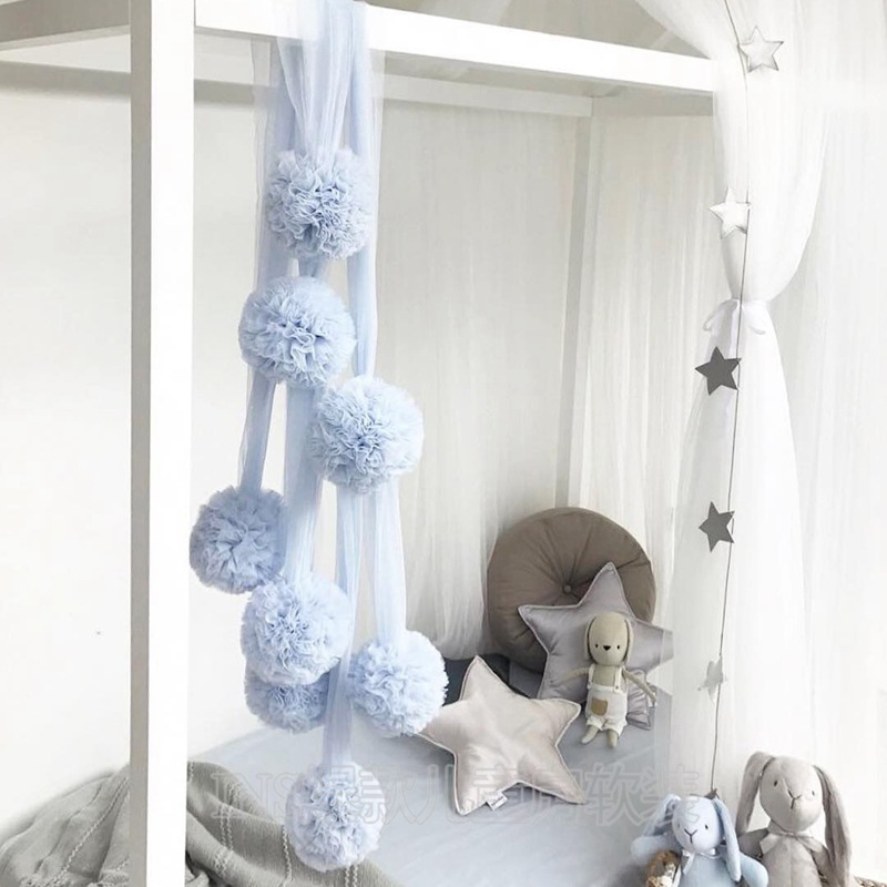 Baby Room Decor Baby Bed Mosquito Net Crib Net Hanging Decoration Garland Ball For Wedding Party Children's Room Accessories
