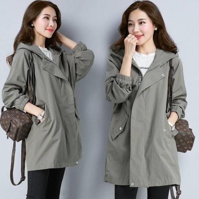2020 Women Trench Casual loose Trench Coat oversize Vintage Cloak female Overcoats Windbreaker plus Size 4XL 5XL 4