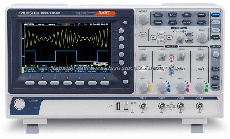 Oscilloscopes de stockage numérique Gwinstek GDS-1072B/GDS-1102B 70/100 MHz, entrée 2 canaux, taux d'échantillonnage 1GSa/s