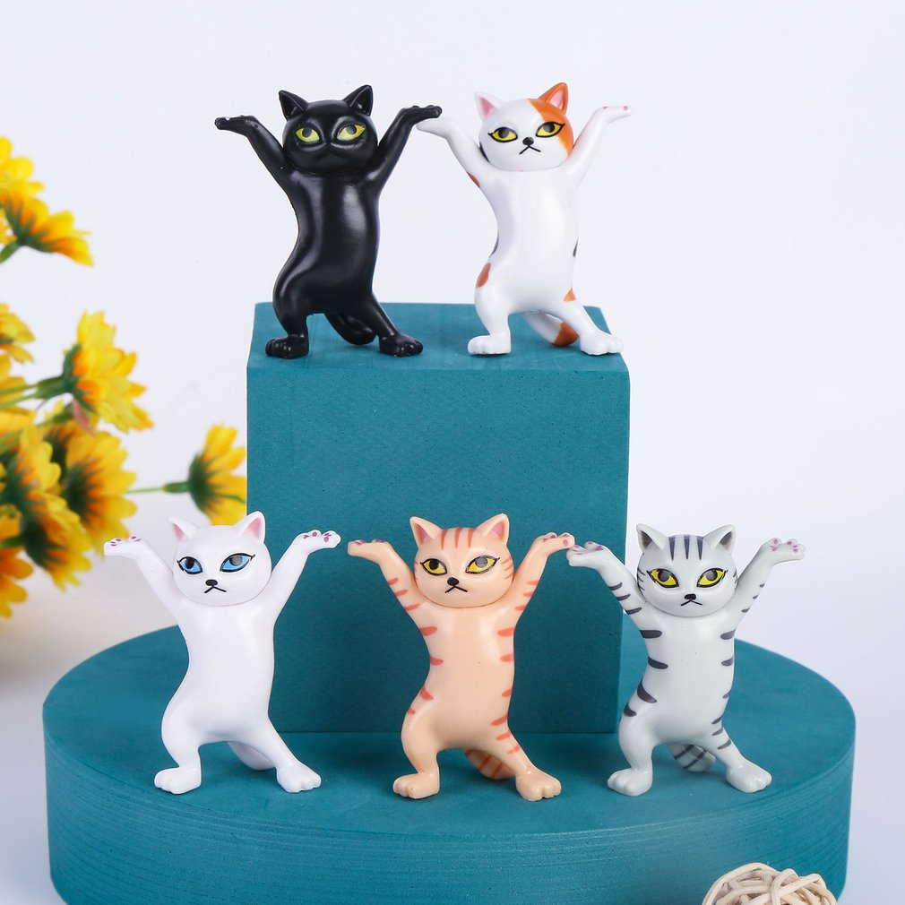 Japanese enchanting cat pen holder Decoration Animal Statue Handmade Home Decor Gift hand-made DIY Capsule Toys Blind box