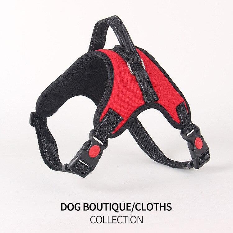 Suprimentos para animais de estimação médio grande cão à prova perfurador oxford pano osso peito e volta cão mão segurando corda