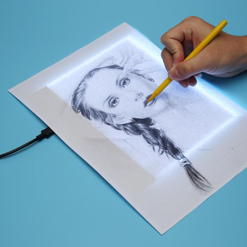 VKTECH A5 LED Drawing Tablet Digital Art Graphic Tablets Electronic USB Writing Pad Painting Copy Board Graphics Light Box Panel