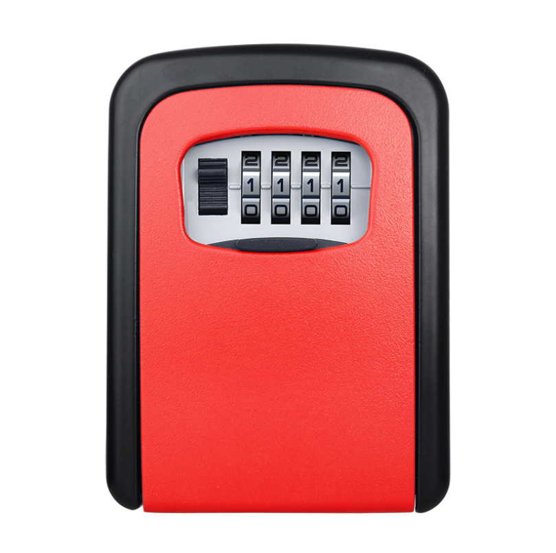 4 Digit  Lock Secure Key Combination Safe  Outdoor Heavy Duty Wall Mounted Security Lock Box  Large Internal Storage For House