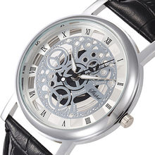 Mode frauen Uhr Hohl Edelstahl Uhren frauen Top Marke Luxus Skeleton Uhr männer Casual Uhr Reloj mujer Uhr