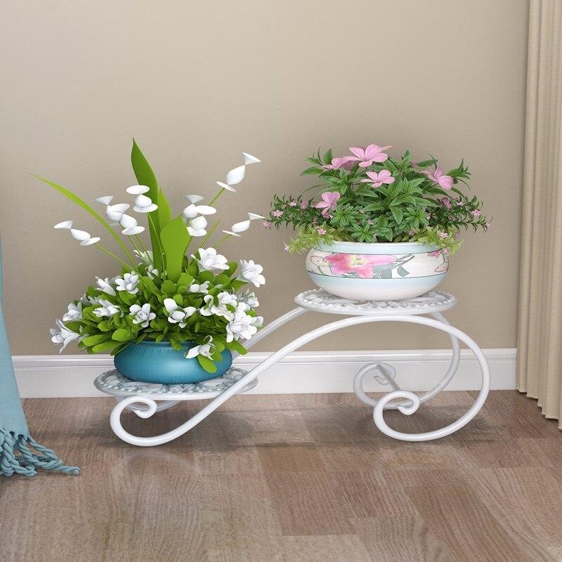 Art Flower Rack Landing Type Many Function Indoor Ground Flowerpot Frame European Style Household Balcony Flower Rack Shelf