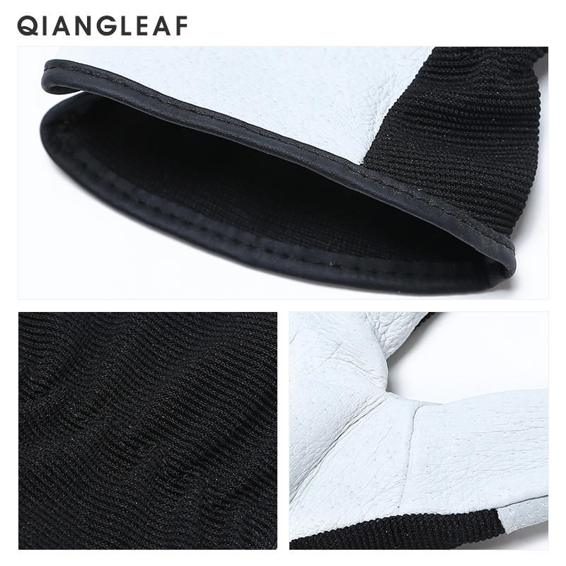 Image 5 - QIANGLEAF Hot Product Pigskin Leather Working Safety Glove Coat Leather Gardening Glove Mechanic Work Gloves 9530-in Safety Gloves from Security & Protection