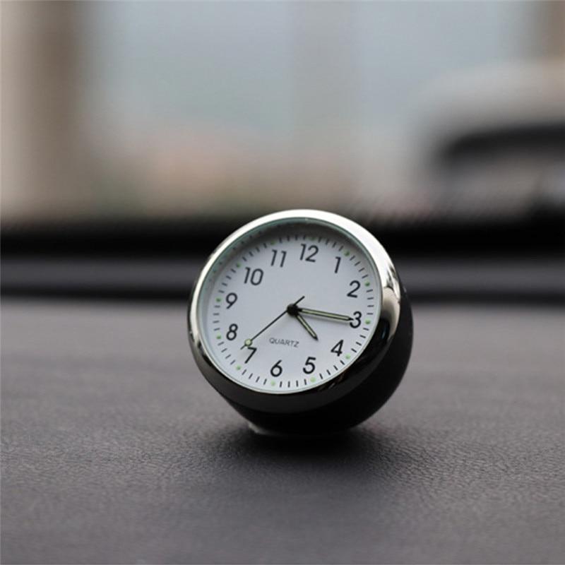 Car Decoration Car Clock Ornaments Automobile Quartz Clock Arabic Numerals Auto Watch Decorative Clock In Car Accessories