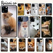 Fox In Autumn Leaves Forest Luxury Phone Case Funda For Iphone 5s Se 2020 6 6s 7 8 Plus X Xs Max Xr 11 Pro Max Cases Cover kisscase natural wood bamboo phone cases for iphone x xs max xr cover plain phone cases for iphone 5 5s se 6 6s 7 8 plus funda