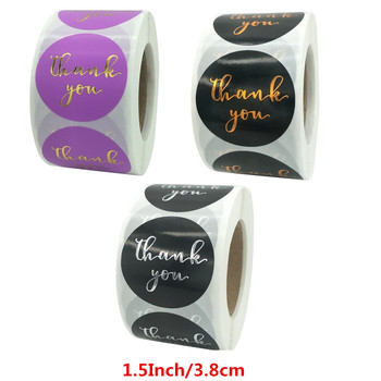Pretty 1.5 Inch/3.8cm Purple Gold Foil Thank You Sticker Seal Labels for Baking Business Packaging Handmade Stationery Stickers pretty reckless pretty reckless who you selling for 2 lp
