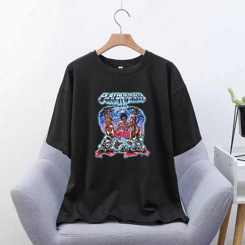 Playboi Carti Tour Sommer Stil Gothic Vintage Grafik T Shirt Frauen T Shirt Ästhetischen Tumblr Ulzzang Männer Kleidung