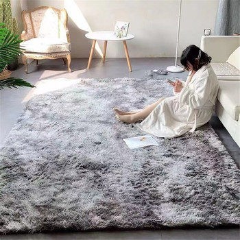 Alfombras de tela suave de felpa para sala de estar, tapete de...