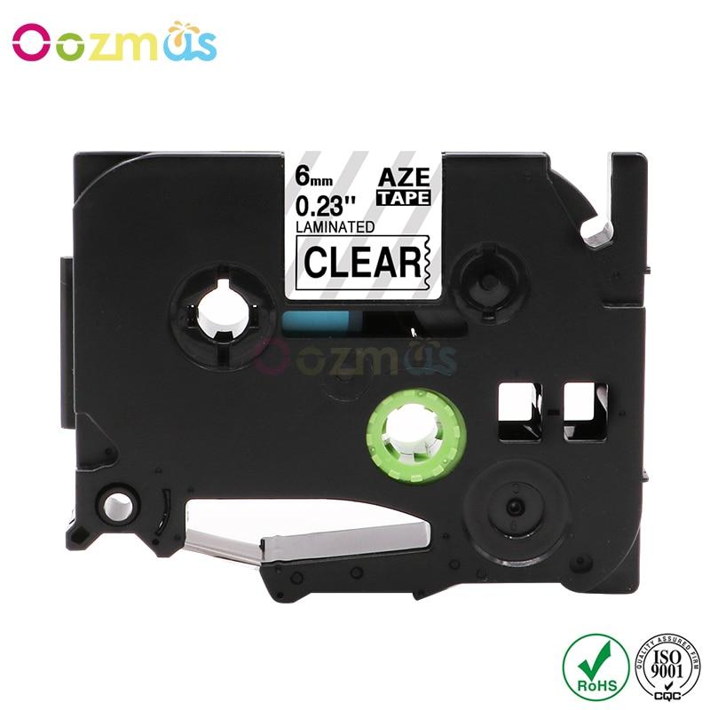 Tze-211 1pcs Tze-111 P-Touch Label Kompatibel für Brother 6mm