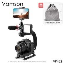 Vamson مثبت كاميرا محمول على شكل U ، وضع منخفض مع حامل حذاء ساخن لـ GoPro Canon iPhone VP432