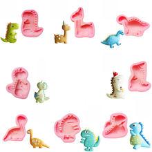 Molde de silicona para decoración de tartas, molde de dibujos animados para hornear, Fondant, color rosa, 1 unidad, D475