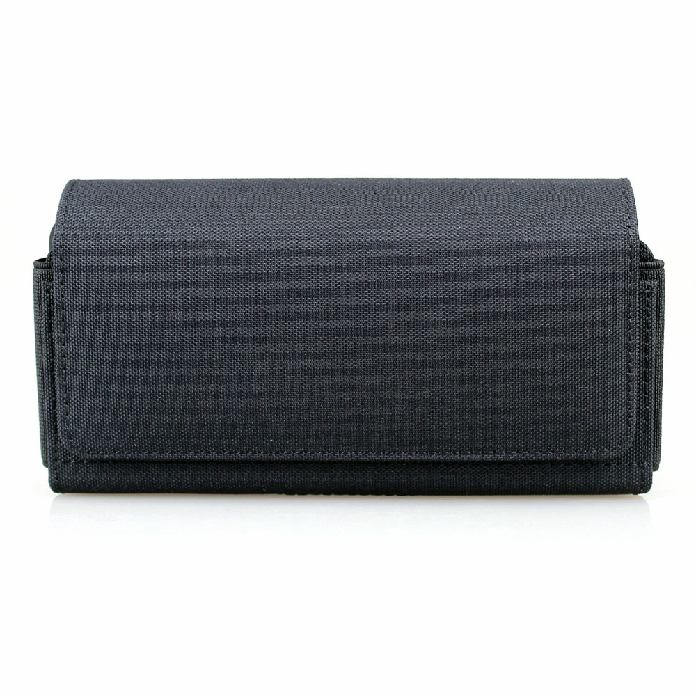 Horizontal Dual Phone Holster Pouch Case for Two Phones, Nylon Double Decker <font><b>Belt</b></font> Clip Case for <font><b>iPhone</b></font> 11 Pro / <font><b>XS</b></font> , <font><b>iPhone</b></font> XR image