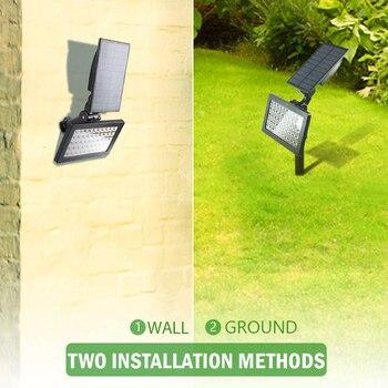 2 PACK Solar Spotlights 50 LED Outdoor Landscape Wall Light Waterproof IP44 Warm White 3500K Adjustable Solar Lights for Garden 4