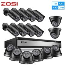 ZOSI Volle HD 1080P 16CH Analog AHD CCTV Kamera Sicherheit System in Outdoor/Indoor mit 16 PCS Kamera video Überwachung DVR Kit