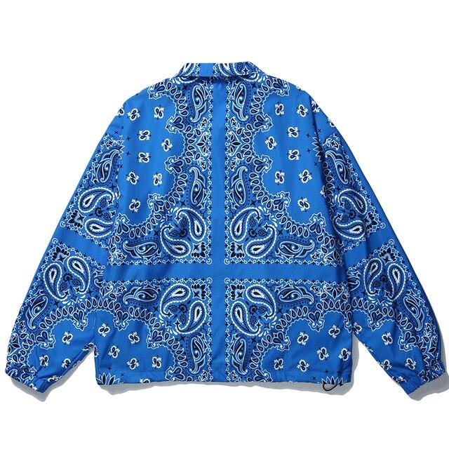 Mens Wear Hip Hop Bandana Paisley Pattern Bomber Jackets Windbreaker Harajuku Streetwear 2020 Autumn Casual Coats Tops Clothing 2