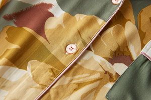 Image 5 - Femme Pajama Suit Print Flower Long Sleeve 2pcs Shirt+pants Nightwear Casual Women Pajamas Set Cotton Sleep Wear