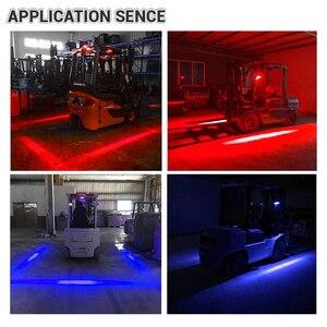 Image 5 - DERI wózek widłowy Led punkt światła 18 W czerwony niebieski strefa niebezpieczeństwo obszar ostrzeżenie światło magazyn wózek widłowy System bezpieczeństwa światła robocze led