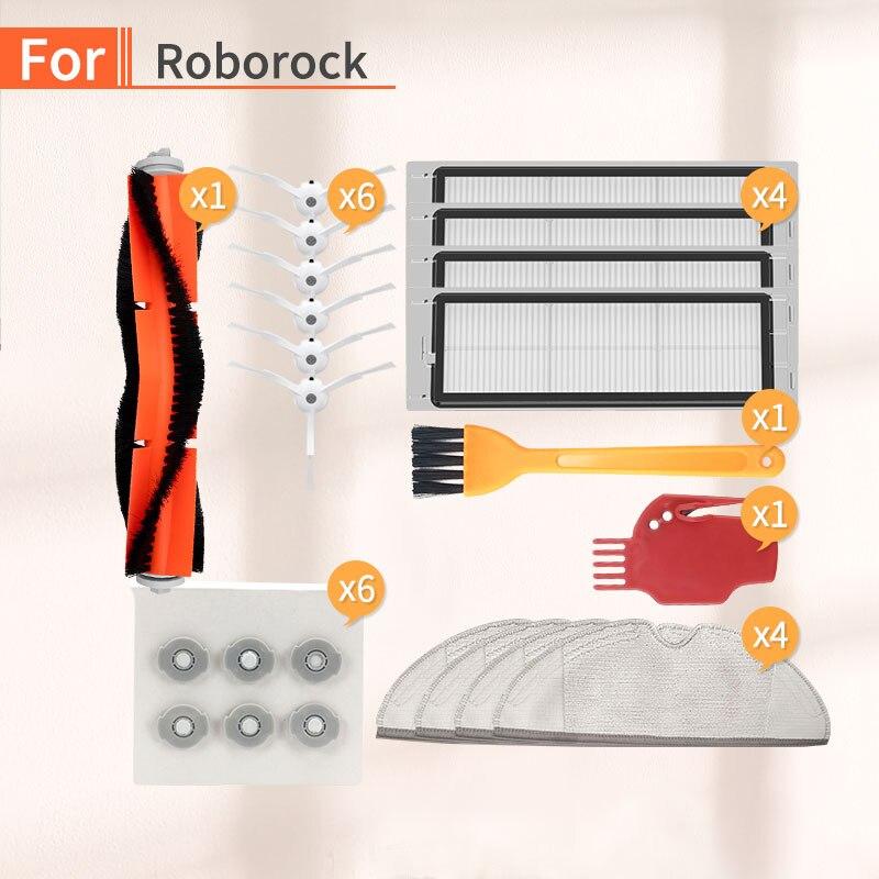 Robot Vacuum Cleaner Main Brush HEPA Filter Water Core Accessories For Xiaomi 1S 2S Roborock S50 S6 S55  Parts