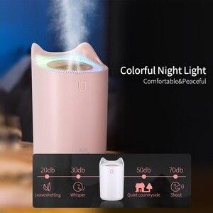 Image 5 - Huis Luchtbevochtiger 3L Dubbele Nozzle Cool Mist Aroma Diffuser Met Coloful Led Licht Zware Mist Ultrasone Air Mist Humidificador